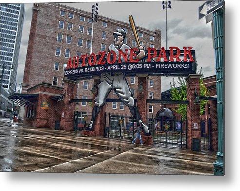 Autozone Park Entrance Memphis Tennessee Metal Print