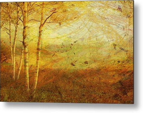 Autumn Metal Print featuring the digital art Autumn Breeze by Ken Walker