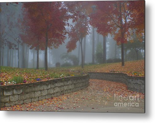 Autumn Metal Print featuring the photograph Autumn Fog by Idaho Scenic Images Linda Lantzy