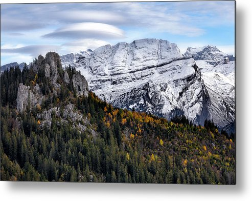Mountians Metal Print featuring the photograph Autumn In Switzerland by Nedjat Nuhi