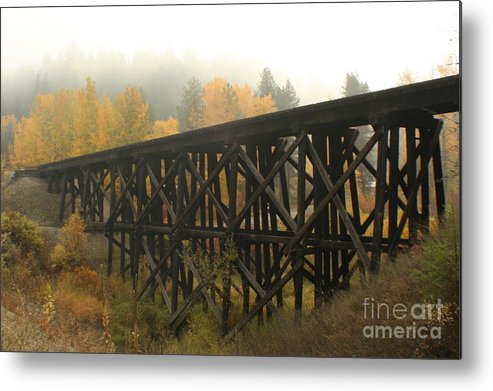 Trestle Metal Print featuring the photograph Autumn Trestle by Idaho Scenic Images Linda Lantzy