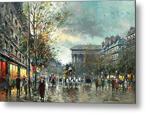 Avenue Des Champs Elysees Metal Print featuring the painting Avenue Des  Champs Elysees 6ee6c21d68df5