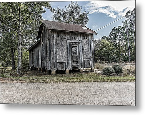Avinger Metal Print featuring the photograph Avinger Depot by Darrell Clakley