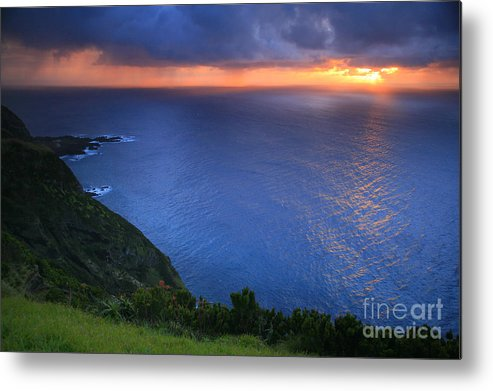 Island Metal Print featuring the photograph Azores Islands Sunset by Gaspar Avila