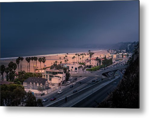 Santa Monica Metal Print featuring the photograph Bad Weather-2 by Gene Parks