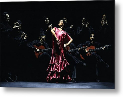 Flamenco Metal Print featuring the painting Bailarina Orgullosa Del Flamenco by Richard Young