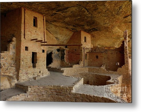 Mesa Metal Print featuring the photograph Balcony House View by Christiane Schulze Art And Photography