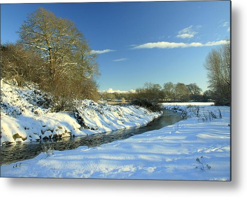 Snow Metal Print featuring the photograph Balheary Demesne In The Snow by Martina Fagan