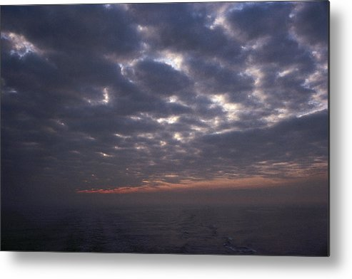 Nobody Metal Print featuring the photograph Baltic Sea, Sunset by Keenpress