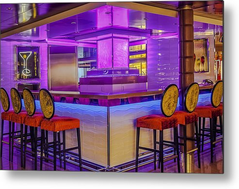 Bar Metal Print featuring the photograph Martinis by Maria Coulson