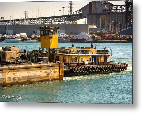 Morgan Metal Print featuring the photograph Barge Movement With The Morgan by Christine Douglas