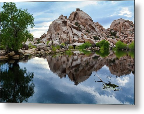Joshua Tree Metal Print featuring the photograph Barker Dam Reflection by Kyle Hanson