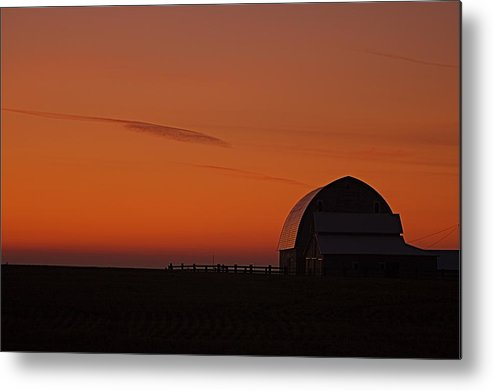 Metal Print featuring the photograph Barnyard Sunset by Mark Lemon