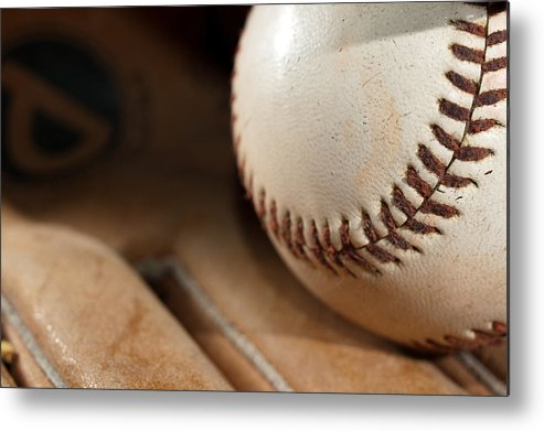 Baseball Metal Print featuring the photograph Baseball by Felix M Cobos