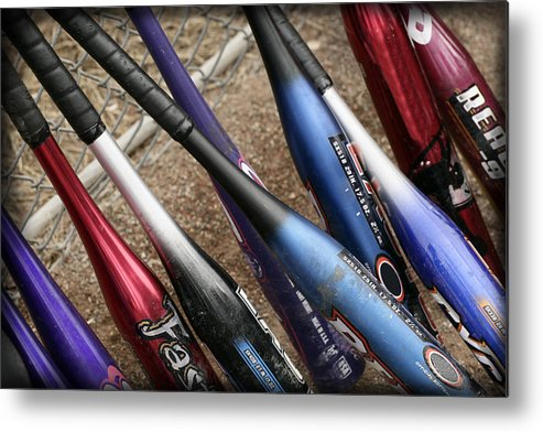 Softball Metal Print featuring the photograph Bat Collection by Kelley King