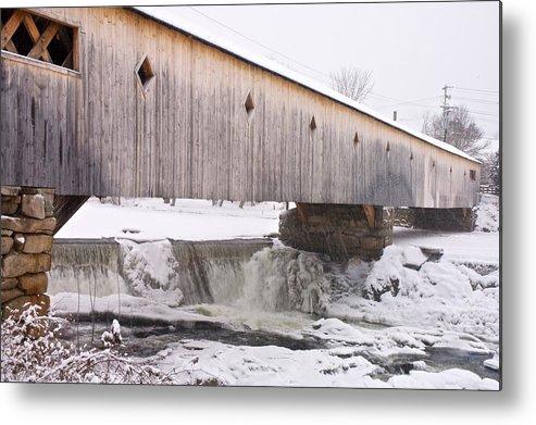 Bath Metal Print featuring the photograph Bath Covered Bridge by James Walsh