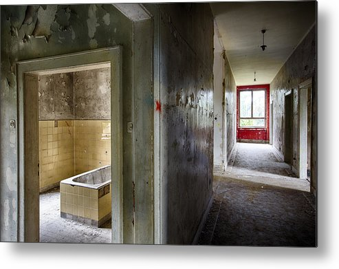Abandoned Metal Print featuring the photograph Bathroom In Deserted Building by Dirk Ercken