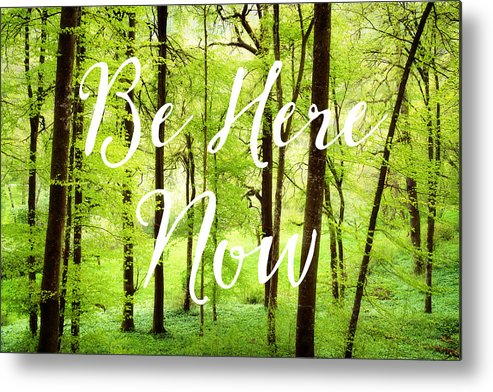 Green Metal Print featuring the photograph Be Here Now Green Forest In Spring by Matthias Hauser