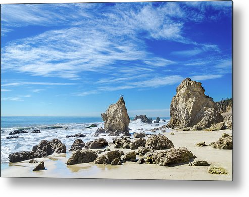 Beautiful Malibu Rocks Metal Print featuring the photograph Beautiful Malibu Rocks by Elena Chukhlebova