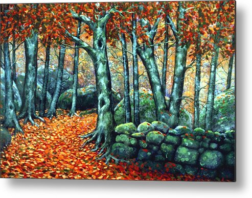 Landscape Metal Print featuring the painting Beech Woods by Frank Wilson