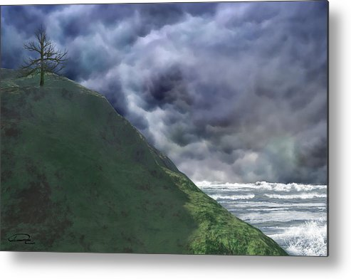 Storm Metal Print featuring the painting Before The Storm by Emma Alvarez