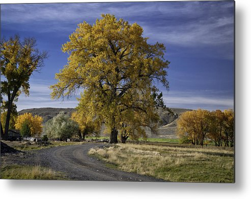 Beautiful Photos Metal Print featuring the photograph Belfry Fall Landscape 5 by Roger Snyder