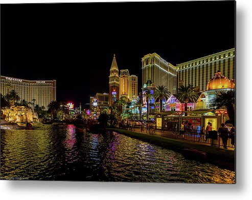 2014 Metal Print featuring the photograph Bellagio On The Las Vegas Strip by Tommy Anderson