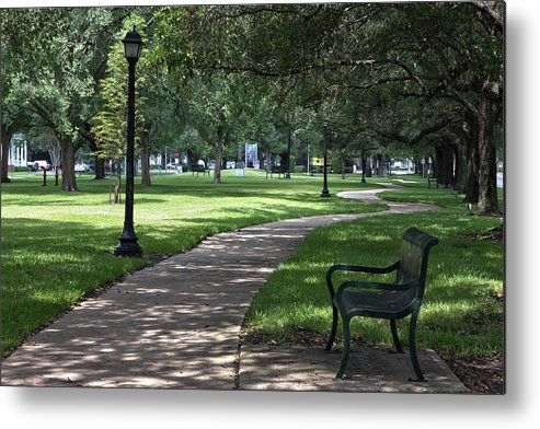 Hdr Metal Print featuring the photograph Bellaire Park by James Woody