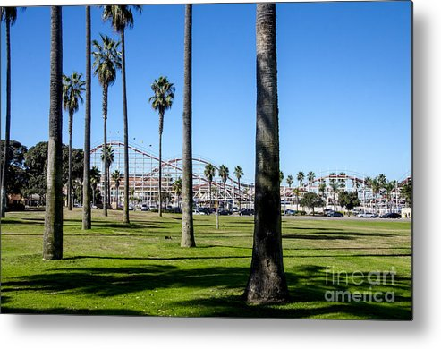 San Diego Metal Print featuring the photograph Belmont Park Giant Dipper by Baywest Imaging