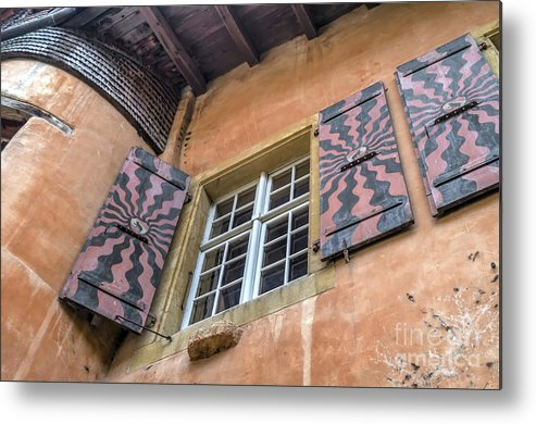 Michelle Meenawong Metal Print featuring the photograph Bernese Windows by Michelle Meenawong