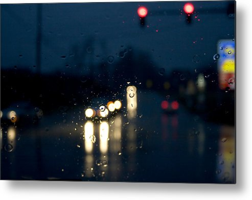 Rain Metal Print featuring the photograph Between by Kevin Brett