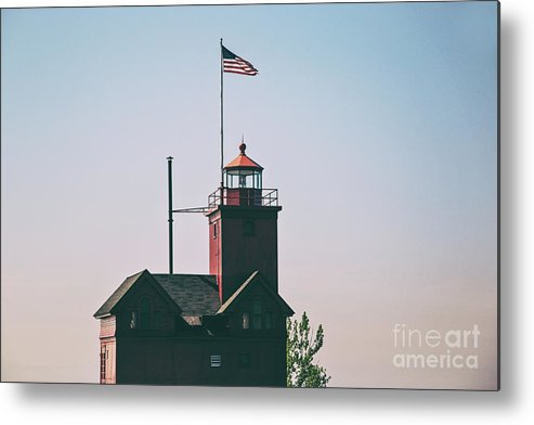 Lighthouse Metal Print featuring the photograph Big Red Lighthouse by Scott Pellegrin