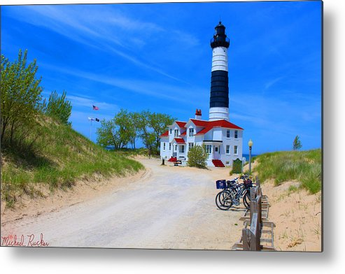 Lighthouse Metal Print featuring the photograph Big Sable Point Lighthouse by Michael Rucker