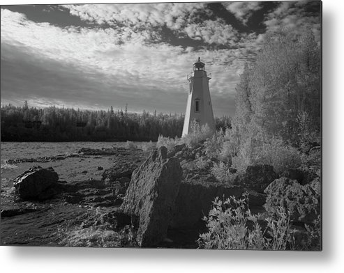 Tobermory Metal Print featuring the photograph Big Tub Lighthouse by Catherine DeDecker