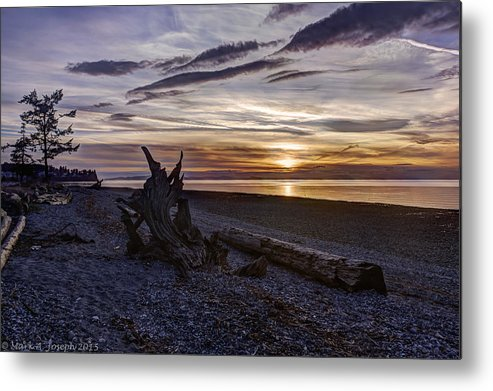 Sunset Metal Print featuring the photograph Birch Bay Evening by Mark Joseph