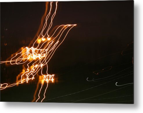 Abstract Metal Print featuring the photograph Bird Lights by Joshua Sunday