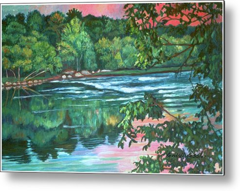 River Metal Print featuring the painting Bisset Park Rapids by Kendall Kessler