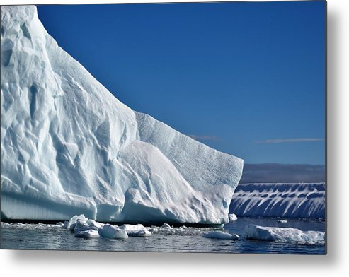 Iceberg Metal Print featuring the photograph Blue And White by Chris Hanlon