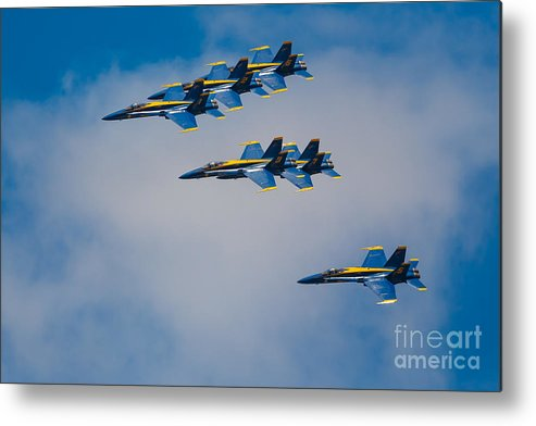 America Metal Print featuring the photograph Blue Angels by Inge Johnsson