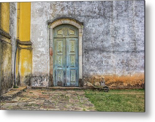 Blue Metal Print featuring the photograph Blue Door by James Conway