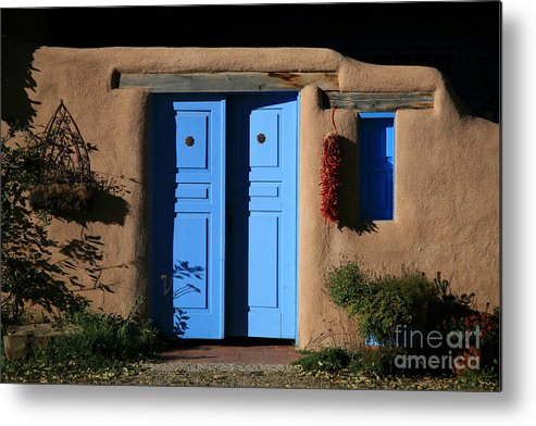 Doors Metal Print featuring the photograph Blue Doors by Timothy Johnson