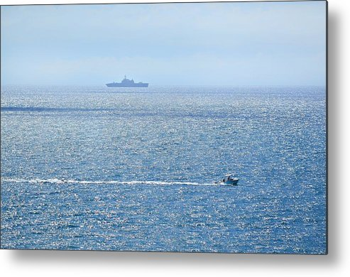 Beach Metal Print featuring the photograph Blue Dream by Leticia GG