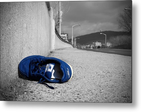 Shoe Metal Print featuring the photograph Blue by Kevin Brett