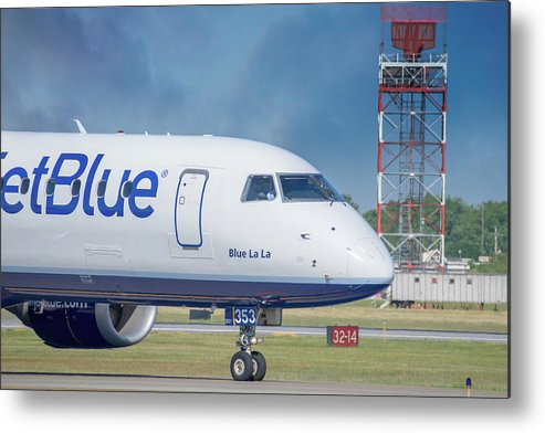 Aviation Metal Print featuring the photograph Blue La La by Guy Whiteley