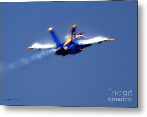 Blue Angles Metal Print featuring the photograph Blue Solo by Larry Keahey