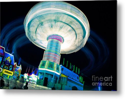 Family Metal Print featuring the photograph Blue Spin by Irene Abdou