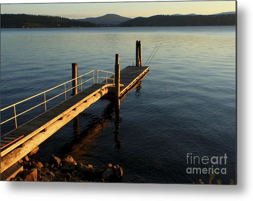 Tranquility Metal Print featuring the photograph Blue Tranquility by Idaho Scenic Images Linda Lantzy