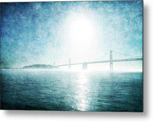 Metal Print featuring the photograph Blue Water Bridge by Guy Crittenden