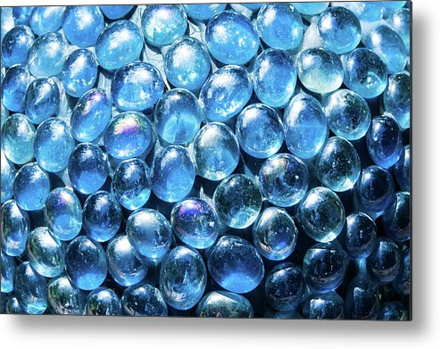 Blue Metal Print featuring the photograph Blueglass by Cynthia Frohlich
