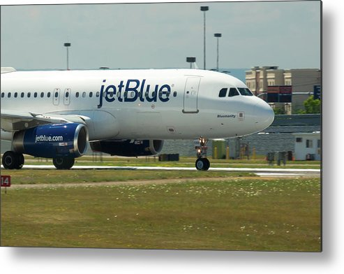 A320 Metal Print featuring the photograph Blumanity by Guy Whiteley